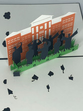 Handmade 3D Kirigami Card  with envelope  Graduation School College High School