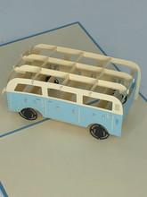 Handmade 3D Kirigami Card  with envelope  VW Camper Van