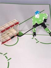 Handmade 3D Kirigami Card  with envelope  Hockey