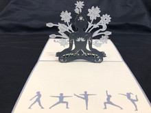 Handmade 3D Kirigami Card  with envelope  Buddah Yoga