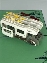 Handmade 3D Kirigami Card  with envelope  Green Spring RV