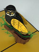 Handmade 3D Kirigami Card  with envelope  Hoot Owl Halloween