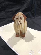 Handmade 3D Kirigami Card  with envelope  Dog 1