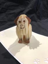 Handmade 3D Kirigami Card  with envelope  Dog 1