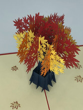 Handmade 3D Kirigami Card  with envelope  Fall Tree 1