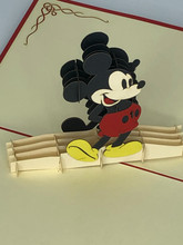 Handmade 3D Kirigami Card  with envelope  Mickey Mouse