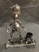 Handcrafted Found Art  Groot Desk Set  8 x 3 x 6