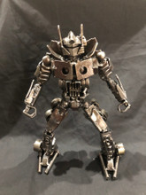 Handcrafted Found Art  Optimus Prime 1 Transformers  12 x 6 x 6