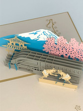 Handmade 3D Kirigami Card  with envelope  Sumo Wrestler Japan