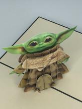 Handmade 3D Kirigami Card  with envelope  Baby Yoda I Am Star Wars