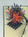 Handmade 3D Kirigami Card  with envelope  Fireworks 4th of July New Years