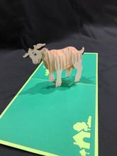 Handmade 3D Kirigami Card  Goat