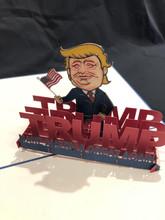 Handmade 3D Kirigami Card  with envelope  Trump 2020 Make America Great Again MAGA