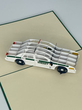 Handmade 3D Kirigami Card  with envelope  Sheriff Law Enforcement Officer