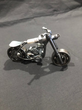 Handcrafted Found Art  Small Motorcycle  5 x 3 x 2