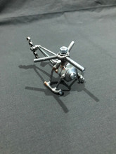 Handcrafted Found Art  Small Helicopter  3 x 2 x 2