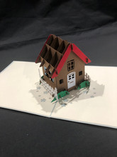Handmade 3D Kirigami Card  with envelope  House New Home
