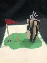 Handmade 3D Kirigami Card  with envelope  Golfing