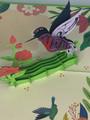 Handmade 3D Kirigami Card  with envelope  Hummingbird