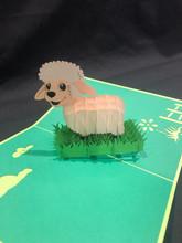 Handmade 3D Kirigami Card  with envelope  Lamb Sheep