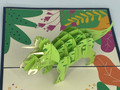 Handmade 3D Kirigami Card  with envelope  Triceratops Dinosaur