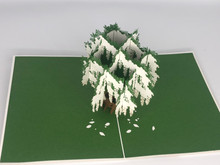 Handmade 3D Kirigami Card  with envelope  Whisteria Tree