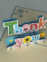 Handmade 3D Kirigami Card  with envelope  Thank You