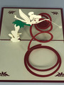 Handmade 3D Kirigami Card  with envelope  Tinkerbell