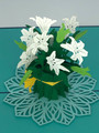 Handmade 3D Kirigami Card  with envelope  Easter Lilly