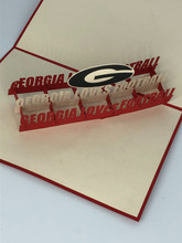 Handmade 3D Kirigami Card  with envelope  Georgia Loves Football