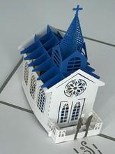Handmade 3D Kirigami Card  with envelope  Gay Wedding Chapel Church