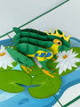 Handmade 3D Kirigami Card  with envelope  Frog Prince