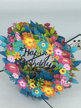 Handmade 3D Kirigami Card  with envelope  Happy Birthday Flower