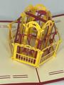 Handmade 3D Kirigami Card  with envelope  Carousel Horse