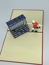 Handmade 3D Kirigami Card  with envelope  Boy's Soccer