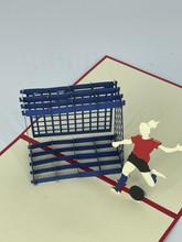 Handmade 3D Kirigami Card  with envelope  Girl's Soccer
