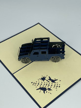 Handmade 3D Kirigami Card  with envelope  Jeep Pick Up Truck
