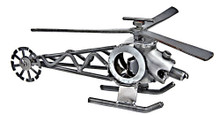 HANDCRAFTED FOUND ART HELICOPTER II L 9 W 2 1/2 H 5  FREE SHIPPING THE ULTIMATE FLIGHT SIMULATION GAME INCLUDES A HELICOPTER.  HELICOPTER GOES UP.  HELICOPTER GOE DOEN.  HELICOPTER MAY GO BOOM IF YOU ARE NOTE CAREFUL.