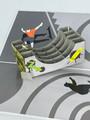 Handmade 3D Kirigami Card  with envelope  Skateboarder