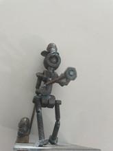 Handcrafted Found Art  Fireman