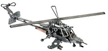 HANDCRAFTED FOUND ART LARGE HELICOPTER L 16 W 6 H 5  FREE SHIPPING  WITH THE ABILITY TO TAKE OFF AND LAND VERTICALLY, A HELICOPER IS CHOSEN TO CONDUCT TAKS THAT WER PREVIOUSLY NOT POSSIBLE WITH OTHER AIRCRAFT.   IN 1861, THE WORD HELICOPTER WAS COINED BY GUSTAVE DE PONTON D'AMECOURT, A FRENCH INVENTOR