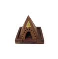 Wooden Pyramid Incence / Cone Burner