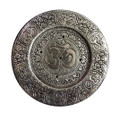 Aluminum Tibetan Incense Holder Om- 4.5'' Diameter