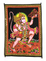 Tapestry Hand Painted Hanuman