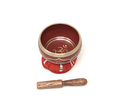 Tibetan Singing Bowl OM (Red)
