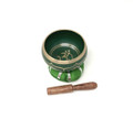 Tibetan Singing Bowl OM (Green)
