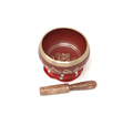 Tibetan Singing Bowl OM MANI (Red)