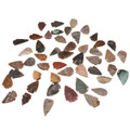 """Set Of 50 Indian Arrowheads Agate New Replica 1/2 """" - 1 1/2 """" L"""