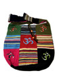 Cotton Hand Bag / Shopping Bag Embroidery Patchwork Om
