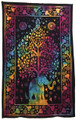 Indian Cotton Tapestry Elephant Tree Trunk Up
